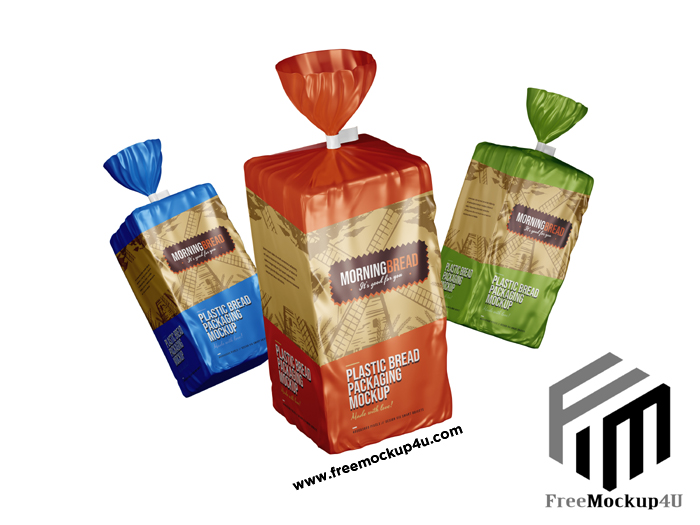 Bread Pouch Package Mockup Psd Template 01