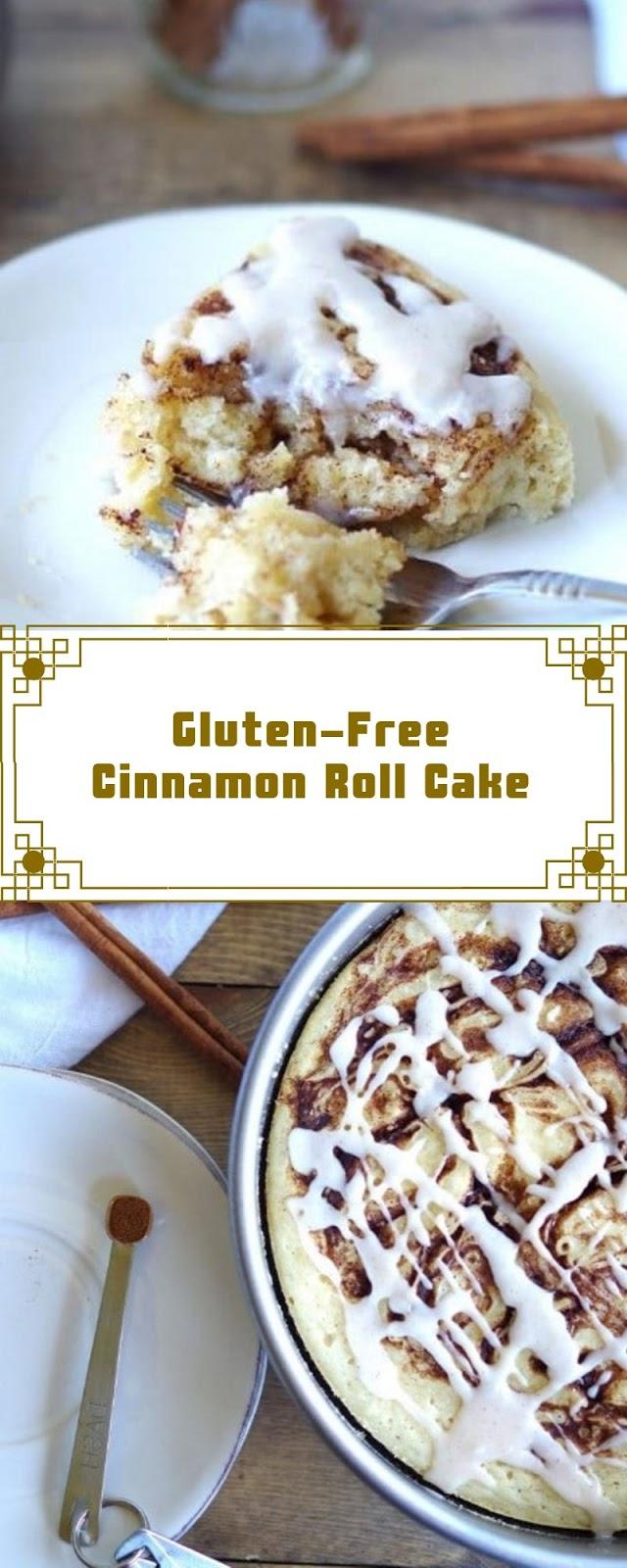Gluten-Free Cinnamon Roll Cake