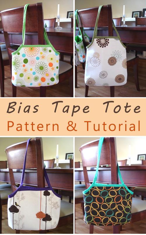 Bias Tape Tote Bag Tutorial