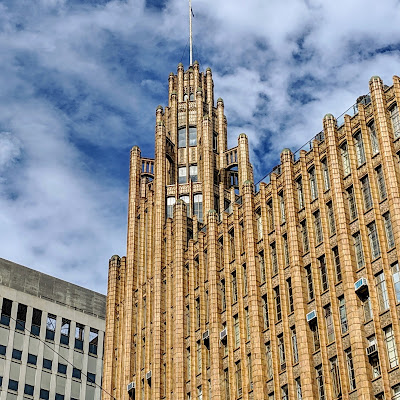 Weekend in Melbourne: An art deco building in Melbourne CBD