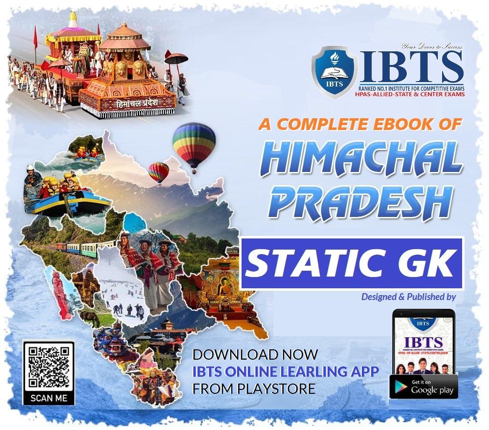 Himachal Pradesh Static GK 2021 for HPAS/HPPSC Exams