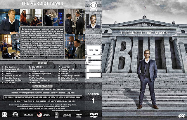 Bull Season 1 (Large Spine) DVD Cover