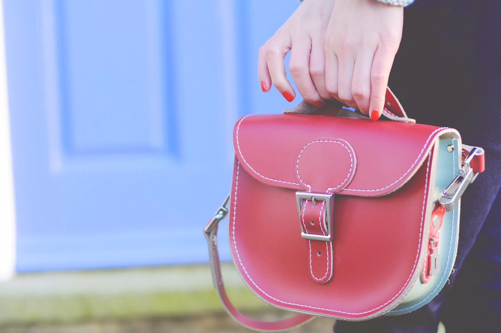red leather bag from brit-stitch