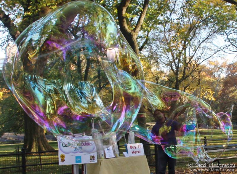 σαπουνόφουσκες στη Νέα Υόρκη, Central Park
