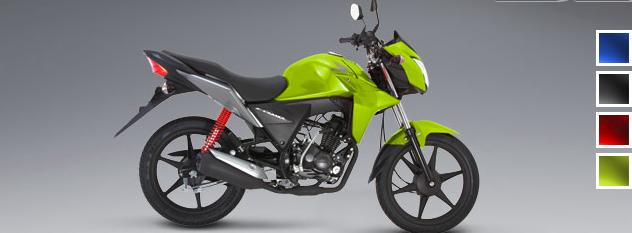 Honda CB110: Color verde Candy