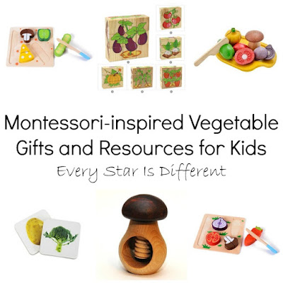 Montessori-inspired Vegetable Gifts and Resources for Kids