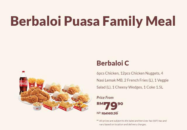 Berbaloi Puasa Family Meals  : Berbaloi C