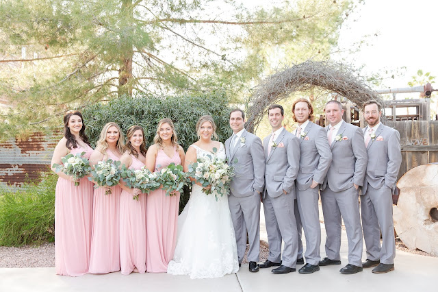 Bridal Party at Shenandoah Mill in Gilbert, AZ
