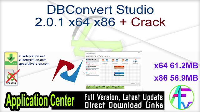 DBConvert Studio 2.0.1 x64 x86 + Crack