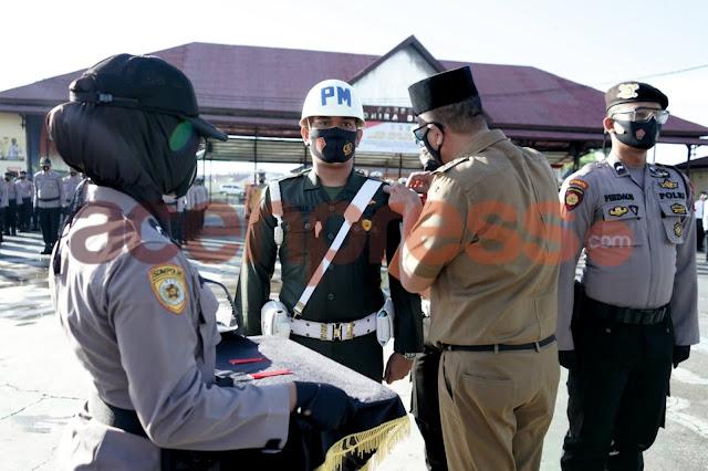 Polres Pidie Melaksanakan Gelar Pasukan Operasi Lilin Seulawah Tahun 2020