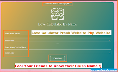 Love Calculator Prank Script Free Download
