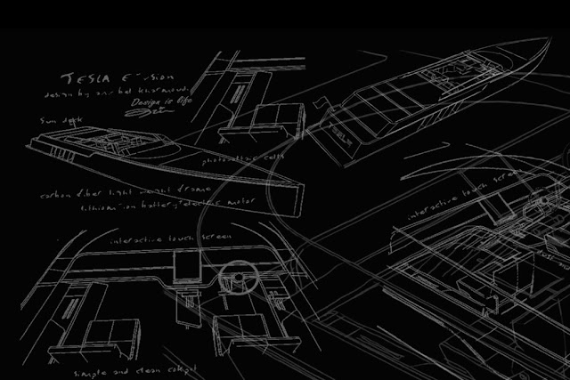 E-Vision Granturismo, Tesla, MichellHilton, Blogue de tecnologia, barco, Tesla Motors