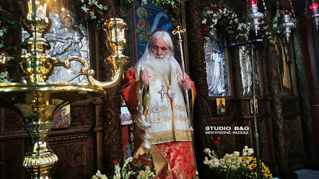 Αρχιερατική Θεία Λειτουργία από τον Μητροπολίτη Αργολίδας στην Ι.Μ. Αγίου Δημητρίου Καρακαλά (βίντεο)