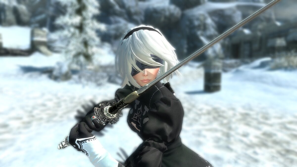 How to Create a 2B in The Elder Scrolls 5: Skyrim Using Mods and Appearance Settings