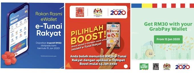 RM30 untuk e-Tunai Rakyat.