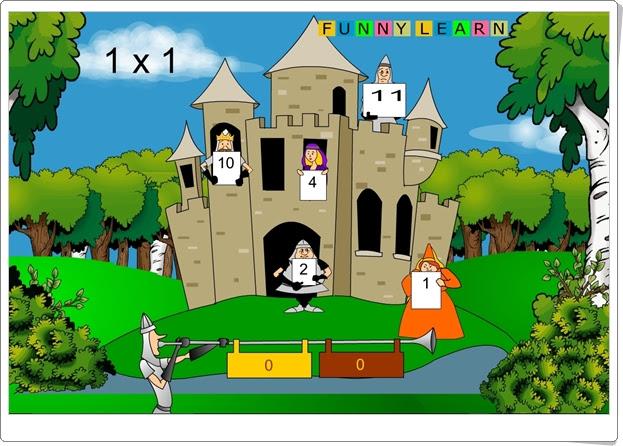 """""""Castillo de multiplicaciones"""" (Juego de Primaria)"""