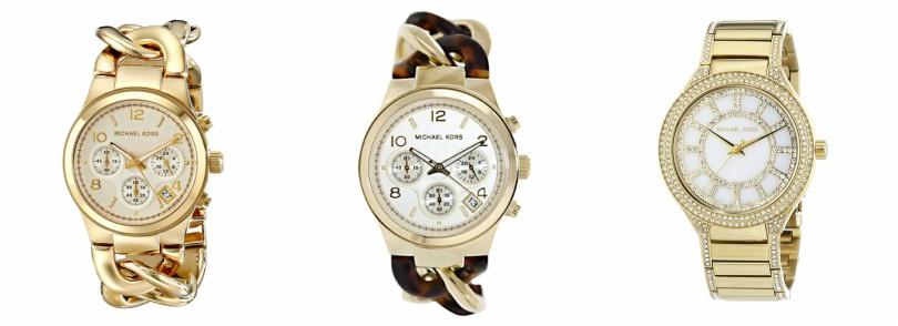 Michael Kors Runway Gold-Tone Watch $150 (reg $250) - my watch!!! Michael Kors Twist Watch - $120 (reg $224) Michael Kors Kerry Gold Watch - $160 (reg $204)