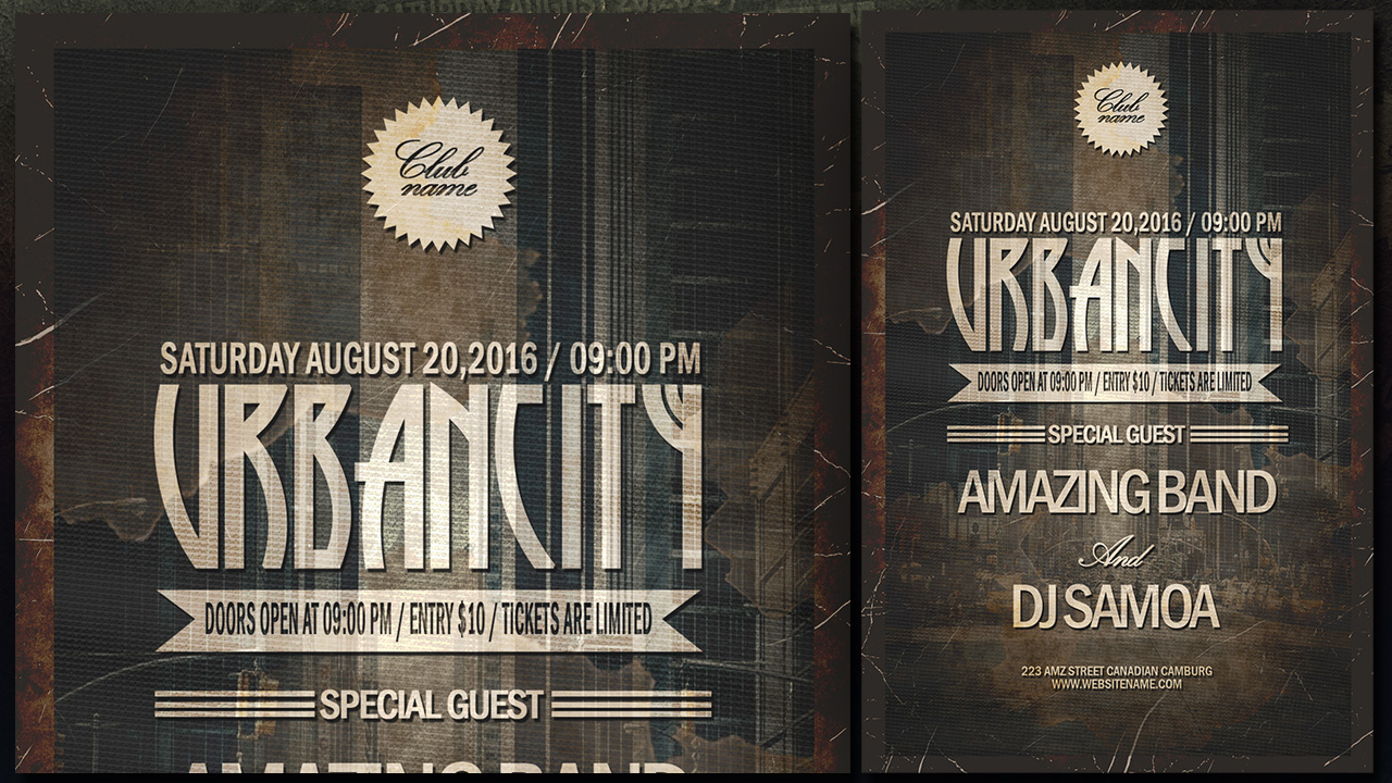 Create a Vintage Style Urbancity Poster In Photoshop