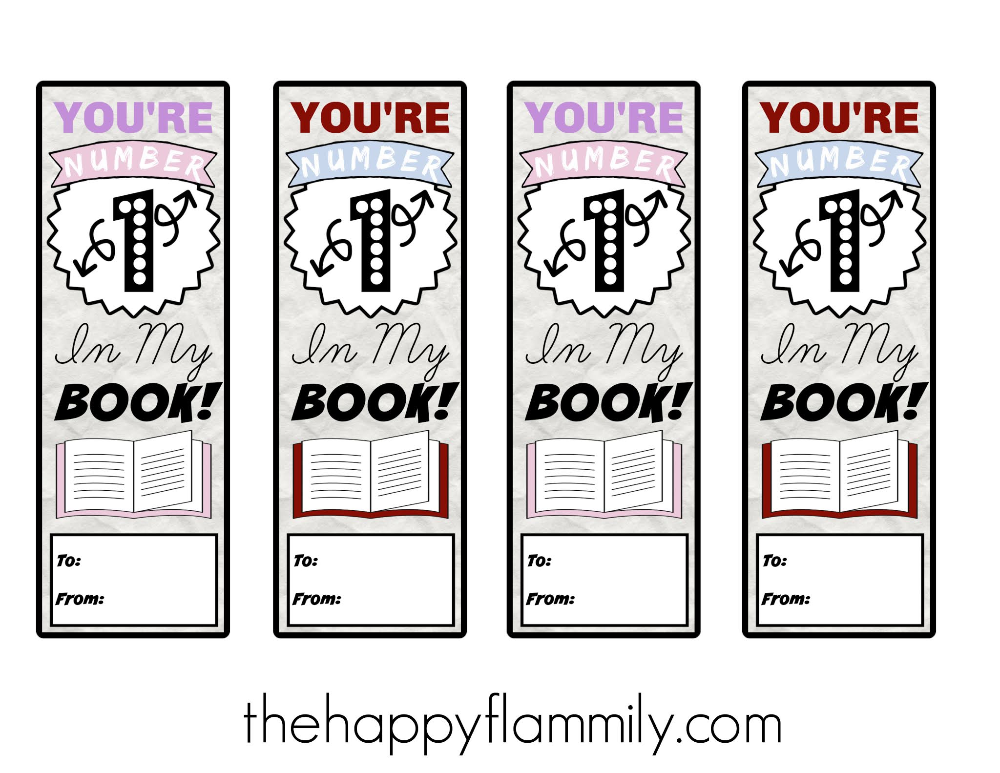 Valentine's Day printable bookmarks. Free printable bookmarks. Valentine bookmarks. How to make valentine bookmarks. Homemade valentine bookmarks. Free printable cute bookmarks. #valentines #Books #bookmarks #valentinesday #valentinescards #school #class #education