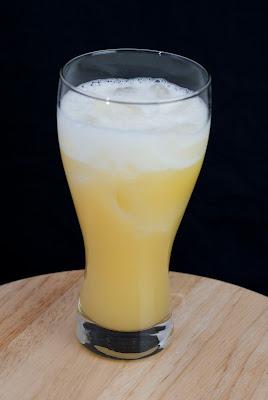 Gilligan cocktail, Gilligan's Island, malibu rum, coconut rum, light rum, banana liqueur, orange juice, pineapple juice