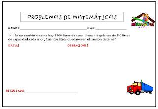 para imprimir ejercicios de matemáticas para tercer grado de primaria pdf