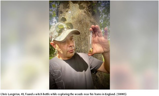 Mysterious Bottle Contains Human Hair and Teeth Found Buried in The Woods