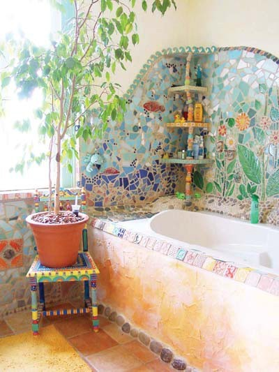 dishfunctional designs the bohemian bathroom. Black Bedroom Furniture Sets. Home Design Ideas