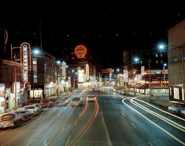 Jasper Avenue, which is most definitely the main street of Edmonton.