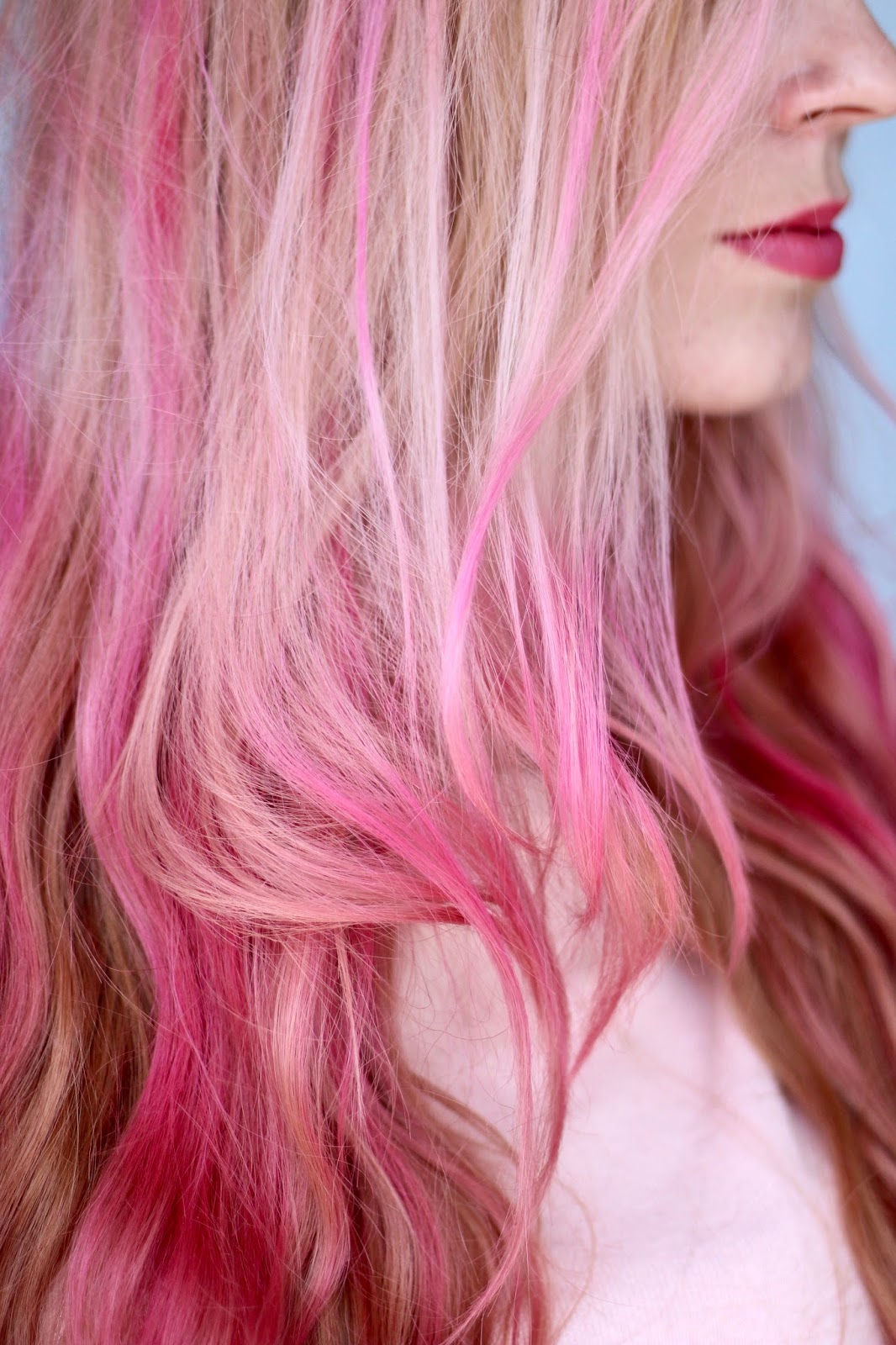 pink hair hairstyle