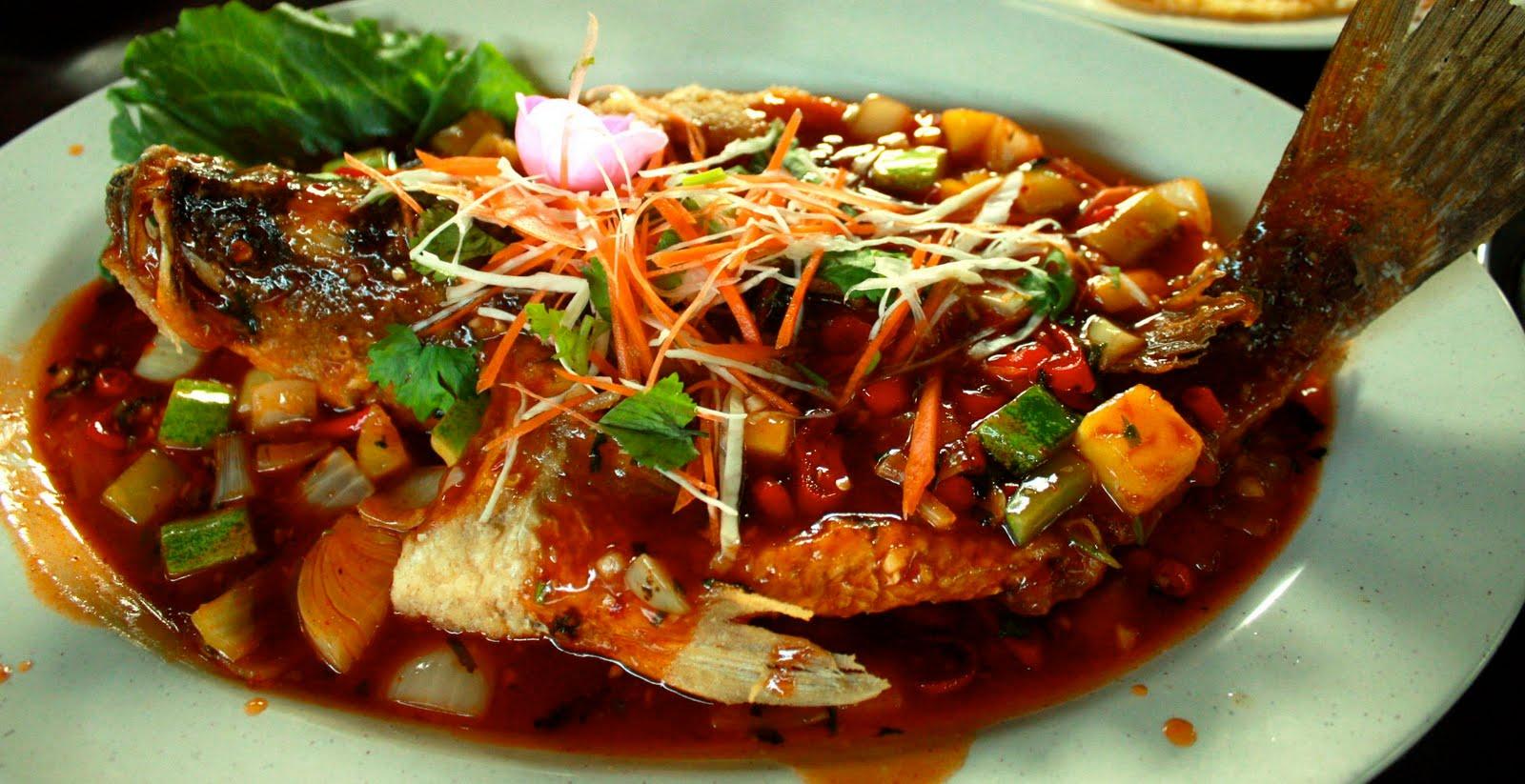 Market Recipe: Ikan Siakap Tiga Rasa or Sweet, Sour and Spicy Siakap Fish
