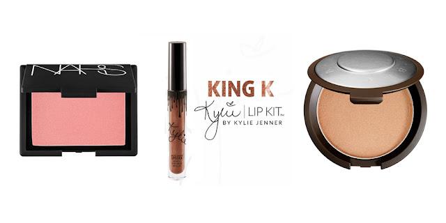 NARS Blush, Kylie Lip Kit, Becca Highlight, College Beauty, College Blogger, Lifestyle Blogger, Beauty Blogger
