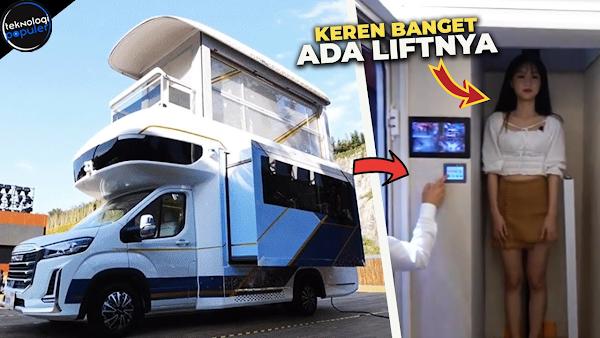Mobil Van Ini Punya Lift dan Bisa Berubah Jadi Dua Tingkat