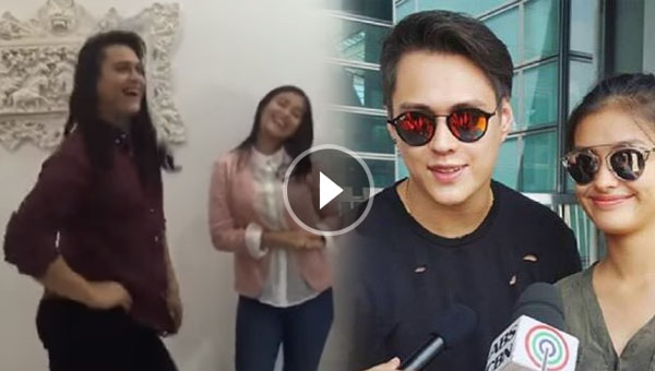 OMG! Enrique Gil gives his interpretative dance while Liza Soberano sings Tatlong Bibe