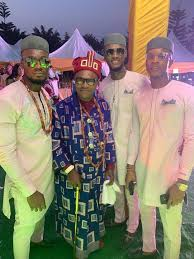 #BBNaija2020: Meet BBNaija Prince's Father, The Wealthy king Of Ebie Land In Imo State And His Brothers