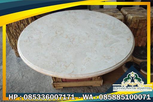 Meja Marmer Dapur, Atasan Meja Marmer Bulat, Meja Marmer Tulungagung