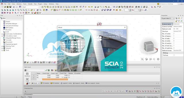 Phân tích và thiết kế dự án công trình - Nemetschek SCIA Engineer 2019 v19.1.2030 (x86/x64) Full