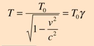 Time Dilation equation - time dilation calculator