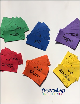 How to Organize Word Sorting Cards for Word Work