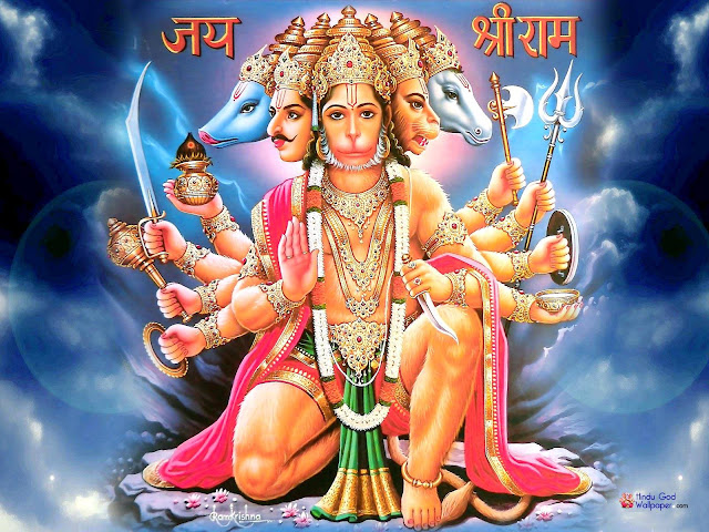 .Panchmukhi Hanuman lovely Wallpaper In HD