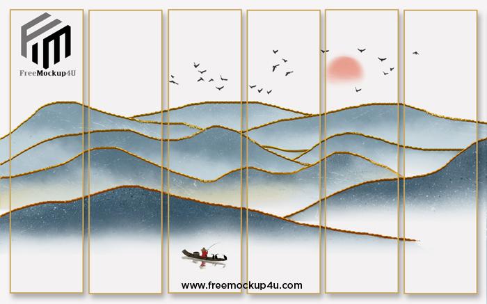 Elegant Texture, Style Artistic Conception, Landscape TV Background Wall