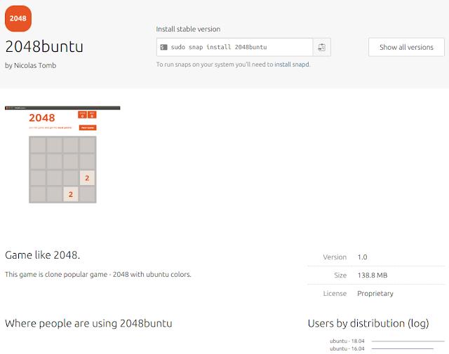 2048buntu ubuntu snap store