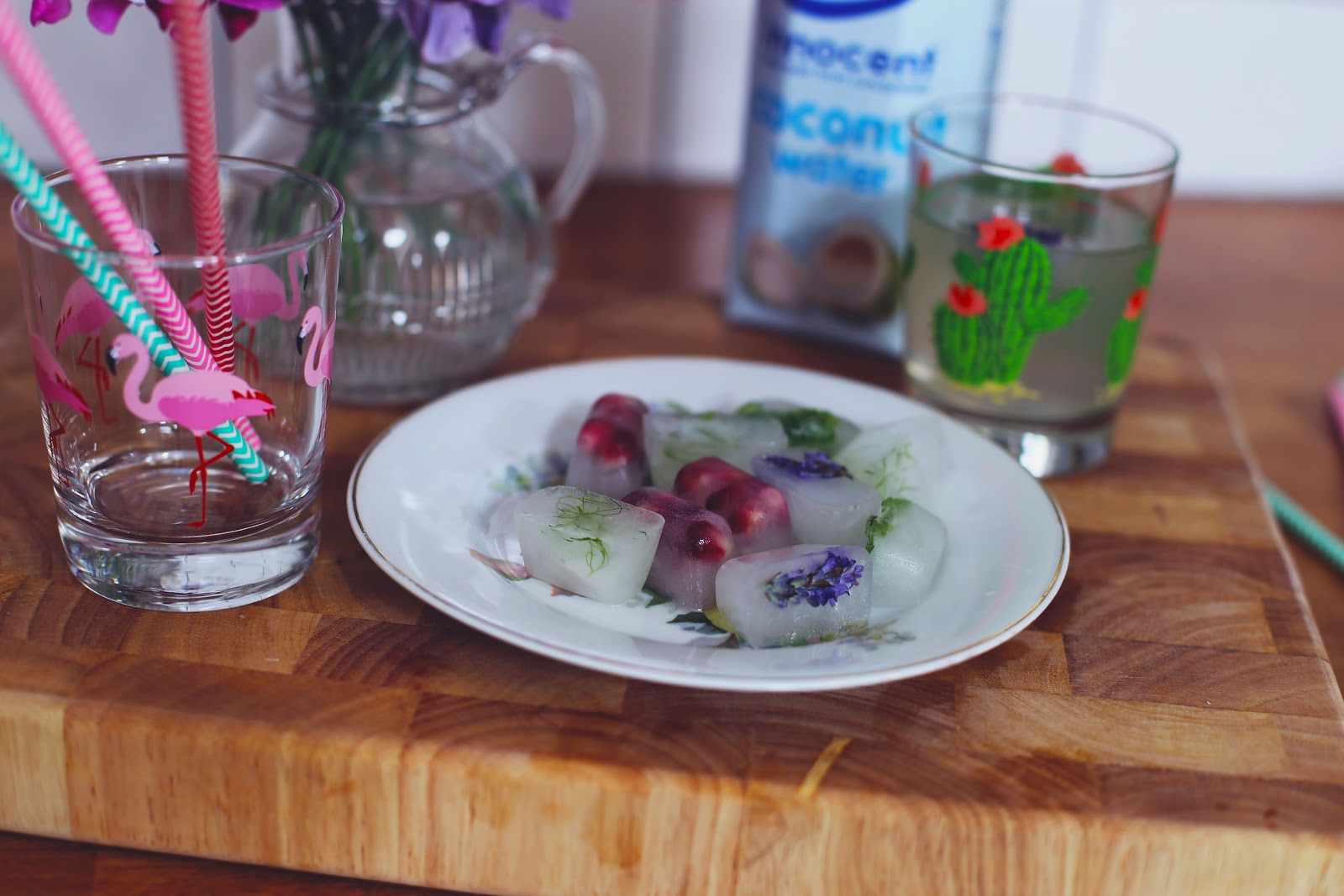 what to put in coconut water ice cubes