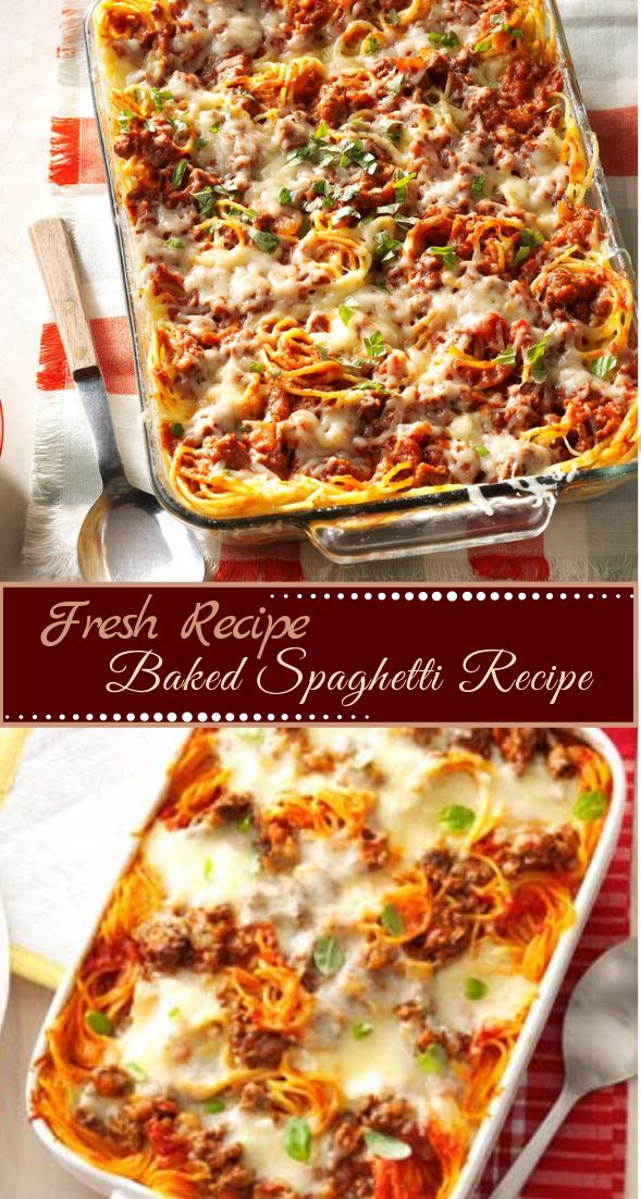 Baked Spaghetti Recipe #dinnerrecipe #food #amazingrecipe #easyrecipe