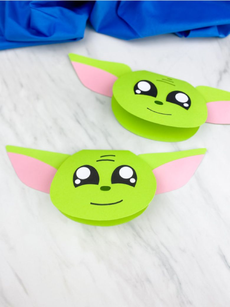 Yoda card craft for Father's Day