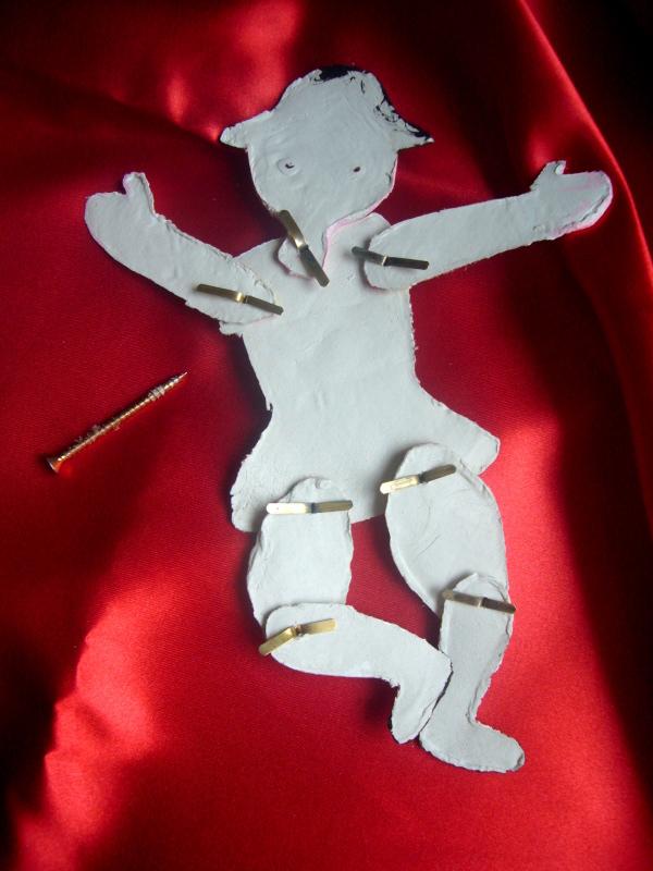 Voglio Una Mela Blu Marionetta fuori porta di carnevale in pasta sintetica per modellare DAS