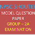 Free Download Model Question Paper of TNPSC Group - 2A Exam in PDF 2018