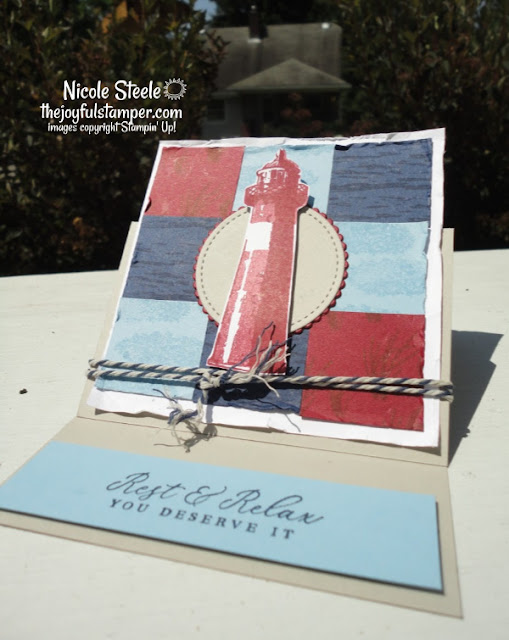 easel card, high tide, stampin' up !, lighthouses, nautical, stampin' up! demonstrator, masculine card