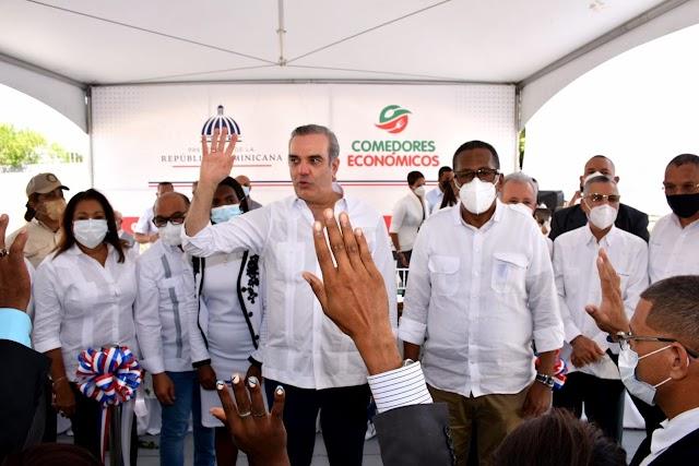 Presidente Luis Abinader inaugura Comedor en Villa Liberación, Santo Domingo Este