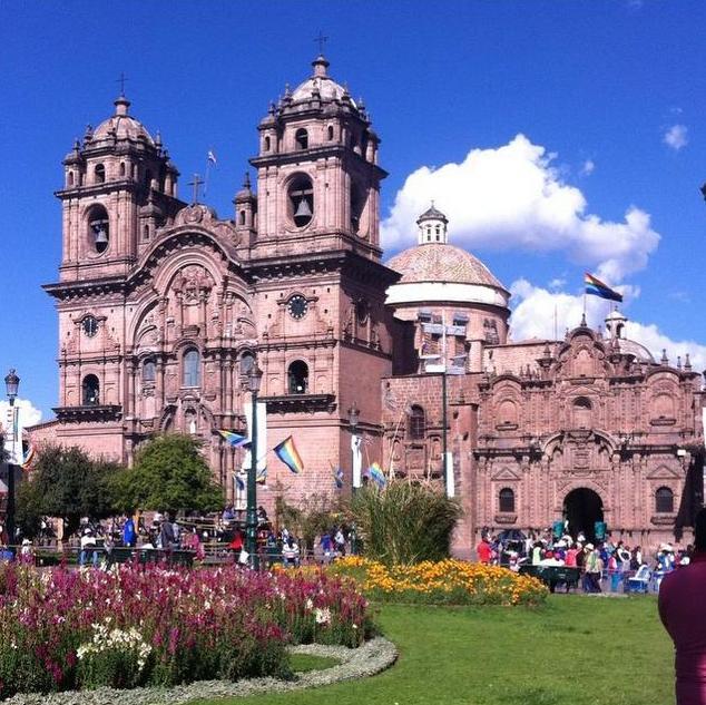 Iglesia de la Compañia, Plaza de Armas, Cusco, Peru
