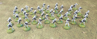forty 15mm Star wars Stormtroopers